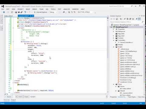 ASP NET MVC 4 - How to Create A jQuery Modal Popup - Part 1