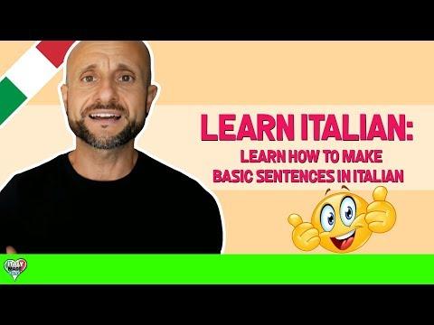 Learn Italian Phrases, Grammar and Culture Q&A - Make Basic Sentences in Italian [Ask Manu Italiano]