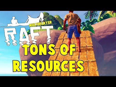 This Island Has All The Resources   RAFT Survival Multiplayer Gameplay   E2