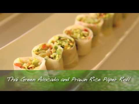 Thai Green Avocado and Prawn Rice Paper Roll - Food Service Masterclass