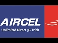 Aircel Free internet Trick 2G/3G/4G Speed