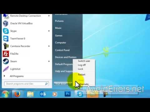 How to Enable the Sleep Option in Windows 7 Shutdown Menu