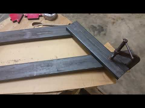 The making of the front bull bar