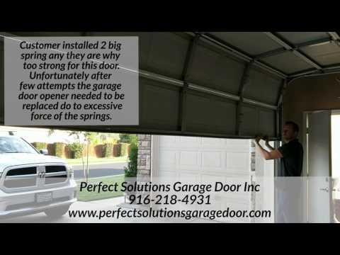 Wrong size spring for your garage door