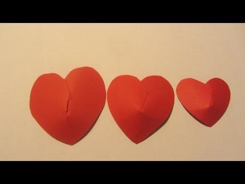 Paper Red Valentine Puffed Heart Paper Crafts