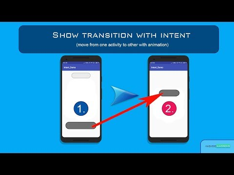Move from one activity to another with transition Working with Intent