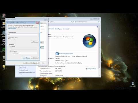 how to change computer name on windows 7