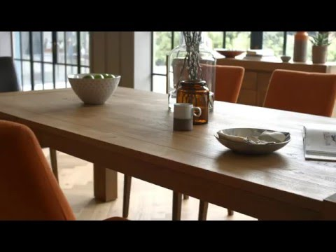 Rustic Wooden Dining Table Set | Santorini by Habufa | Furniture Village