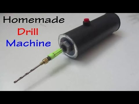 How to make a Mini Drill Machine in 5 minutes at home | Simple Method