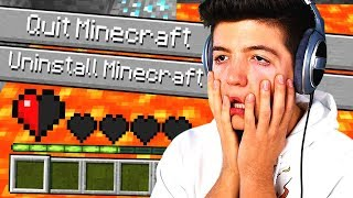 *WARNING* YOU WILL RAGE! (Unfair Minecraft 2)