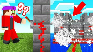 He BLEW UP His OWN MINECRAFT CASTLE! (Trolled)
