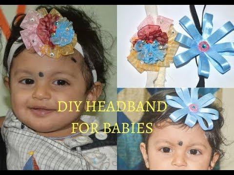 DIY Headbands For Babies Fom Ribbon : 2 cute styles
