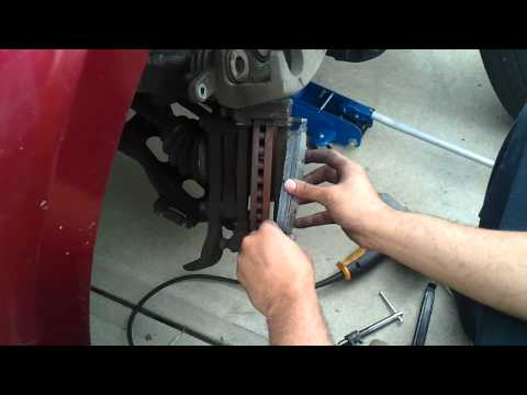 05 ford freestyle break pad change under 10 minutes...