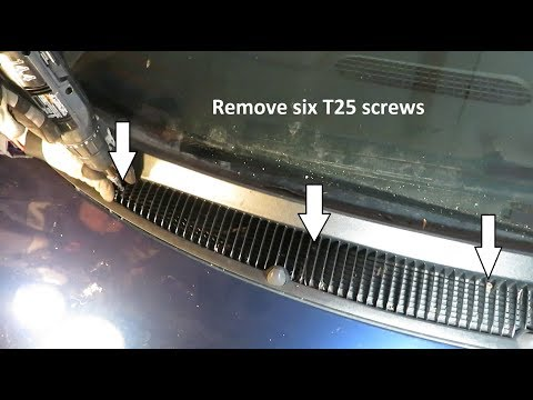 How to Remove the Front Wiper Housing Caravan, Town and Country '96-'02