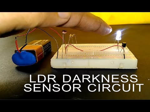 How to make LDR Darkness Sensor Circuit Simple DIY