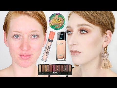 Full Face Drugstore Makeup Tutorial For Pale Skin