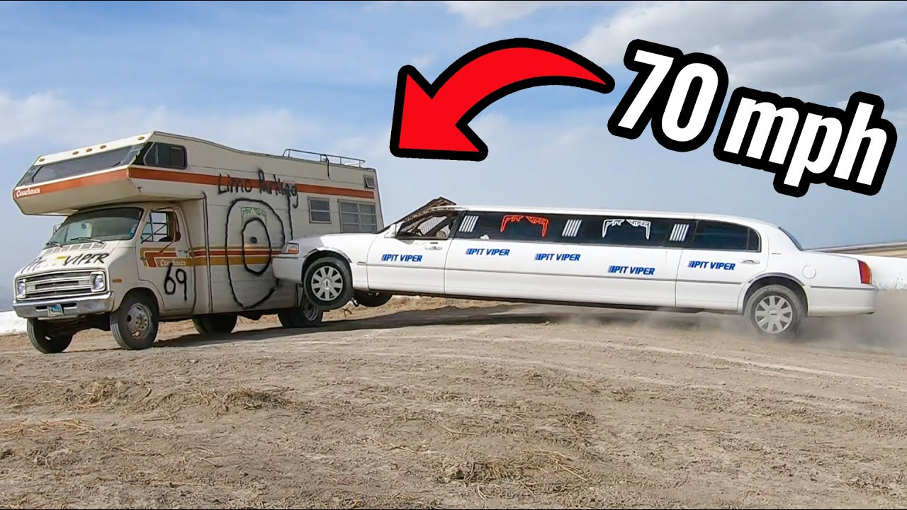 Limo Jumps Through RV at 70 MPH