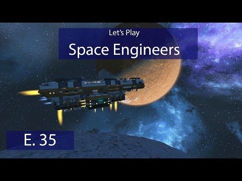 Military Drydock - Ep. 35 - Landing! - Let's Play Space Engineers