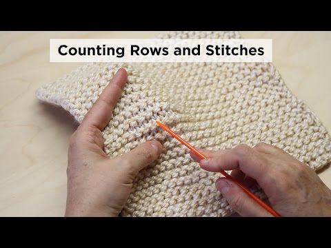 How to Count Garter Stitch Rows and Stitches