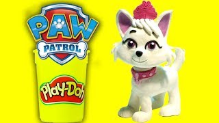 Paw Patrol Sweetie character - Superhero Play Doh Cartoons & Stop Motion Movies for kids