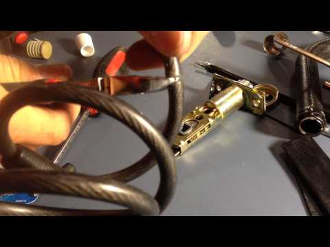 How to cut a steel cable lock.