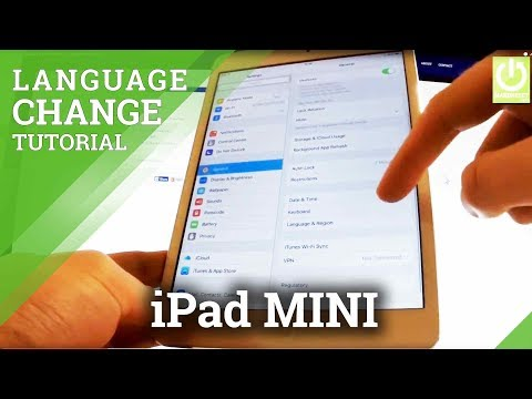 How to Change Language in APPLE iPad mini - Language Settings in iPad