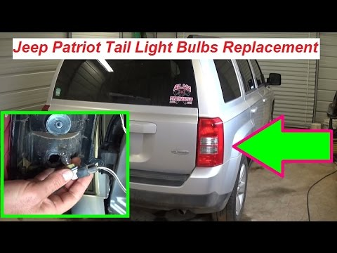 Jeep Patriot Tail Light Replacement / Tail Light Bulbs Replacement. Brake Light Turn Signal