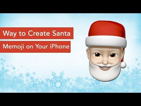 How to Create Santa Memoji on iPhone XS, XS Max, iPhone XR or iPhone X