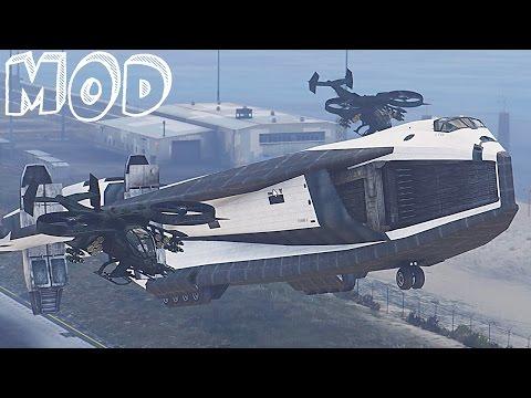 GTA V Mods - AVATAR TAV 37 Valkyrie SSTO Shuttle from Avatar SPACESHIP MOD for GTA V