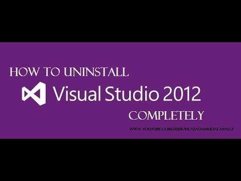 How to UnInstall VisualStudio 2012 Completely..?