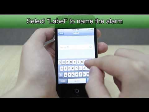 How to Set the Alarm on Apple iPhone 4