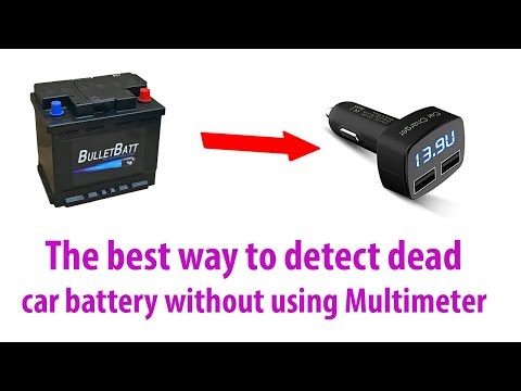 How to Test a Car Battery and alternator without a Multimeter
