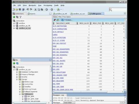 Oracle Tablespaces