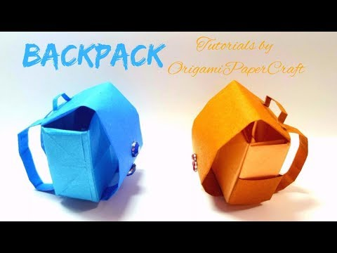 DIY Origami BackPack ( Ba Lô ) 🎒 Tutorial By OrigamiPaperCraft