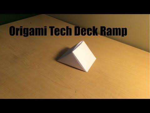 Origami Tech Deck Ramp