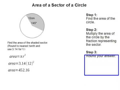 How to find the Sector Area of a Circle