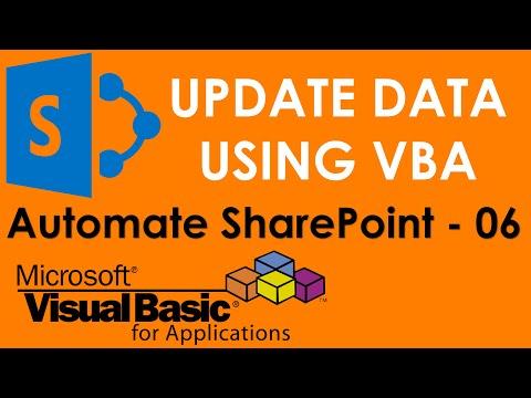S01E06-Update SharePoint Server using VBA ADO and SQL