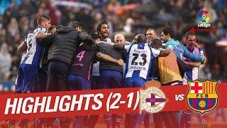 Resumen de Deportivo de la Coruña vs FC Barcelona (2-1)