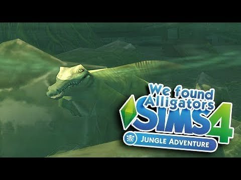 JUNGLE ADVENTURE MINI SERIES 🍃 | THE SIMS 4 | Part 8 - WE FOUND ALLIGATORS!!
