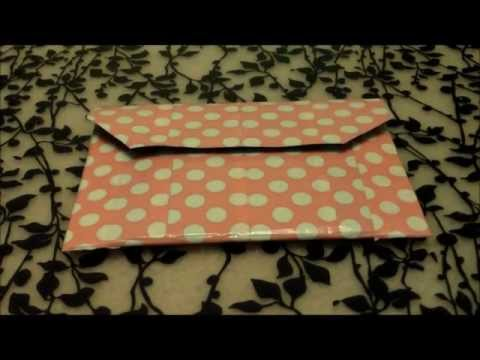 How to make a duct tape wallet clutch