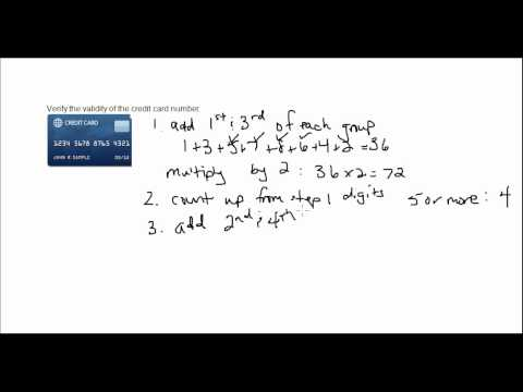 Validity of a Credit Card Number