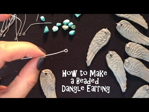 How to Make Polymer Clay Earrings Beaded Dangle in ComposiMold Push Molds