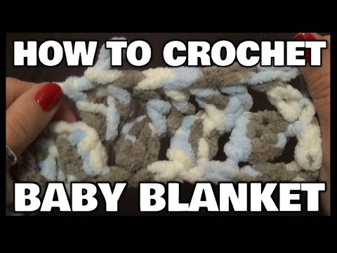 How To Crochet A Baby Blanket Using V Stitch | For Beginners