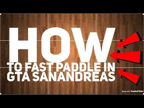 how to fast paddle on bmx in gta san andreas