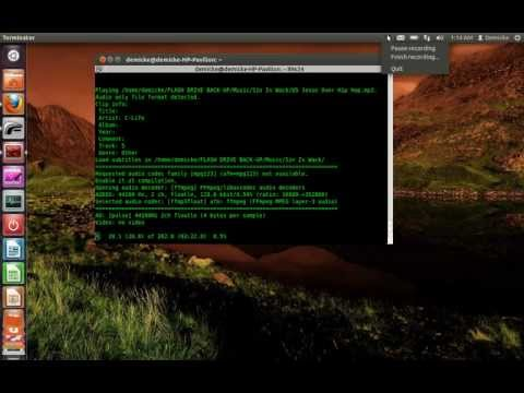 Playing media files in linux terminal