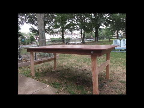 Outdoor Workbench With Folding Legs Part 2 - Make #3