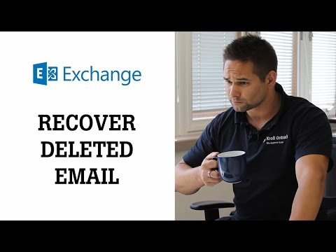 How to recover deleted files or folders in Microsoft Exchange