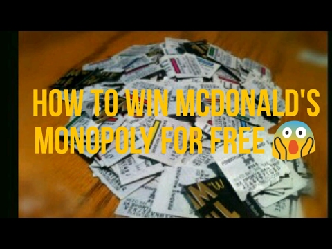 HOW TO WIN MCDONALD'S MONOPOLY FOR FREE (EVERY TIME) *INSANE* 😱...