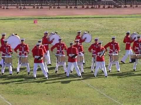 United States Marine Corps Battle Color Detachment at Eisenhower High School, Rialto CA 2012