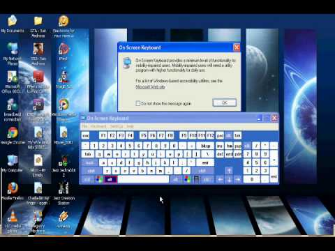 How to get the on screen keyboard in Windows XP